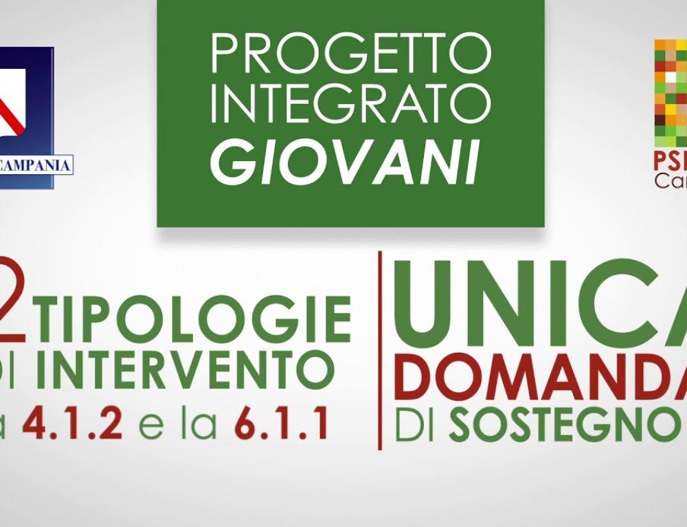 Progetto integrato Giovani (tipologie 4.1.2 e 6.1.1) : approvato il bando