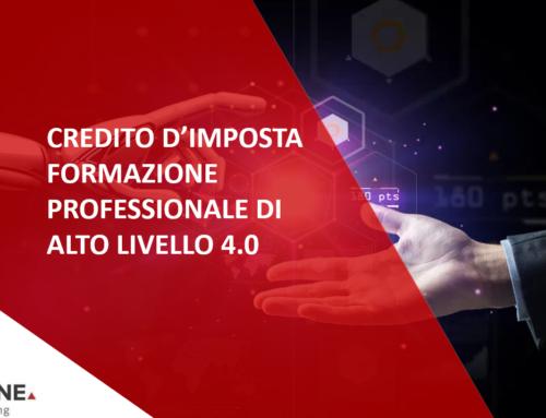 CREDITO D'IMPOSTA FORMAZIONE PROFESSIONALE DI ALTO LIVELLO 4.0